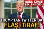 ABD Başkanı Trump Twitter'dan itiraf etti!