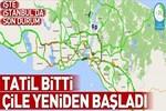 İstanbul'da trafik yoğunluğu arttı!..