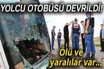 Amasya'da yolcu otobüsü devrildi!