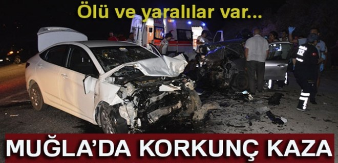 Muğla'da feci trafik kazası!