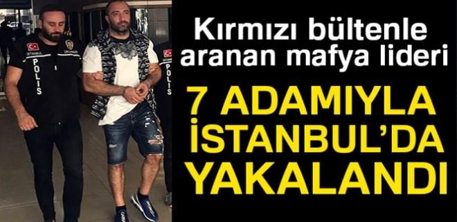 Bulgar suç örgütü lideri ve 7 adamı İstanbul'da yakalandı!