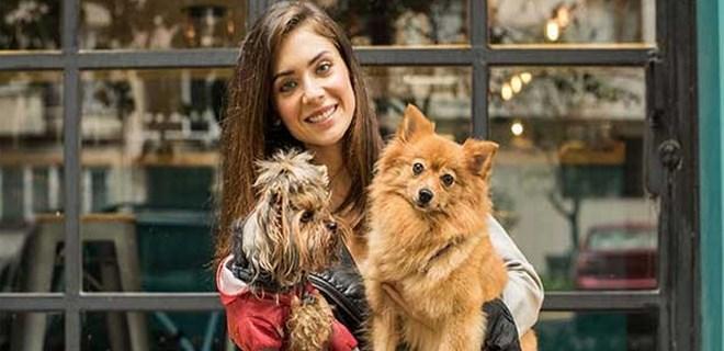 Fulya Zenginer, köpeğini kendisine benzetti