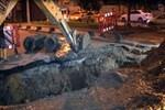 Küçük Langa Caddesi'nde yol çöktü!
