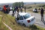 Kırklareli-Edirne yolunda feci kaza!