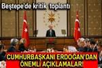 Cumhurbaşkanı Erdoğan'dan Beştepe'de kritik toplantı