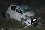 Alkollü sürücü otomobiliyle şarampole devrildi