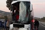 Uşak'ta feci otobüs kazası!
