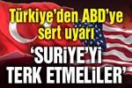 Milli Savunma Bakanı Akar'dan ABD'ye: 'PKK bölgeyi terk etmeli'