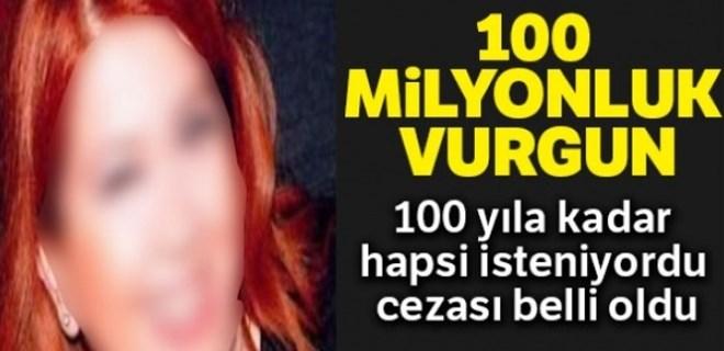 100 milyonluk vurguna 33 yıl hapis, 677 bin lira para cezası!
