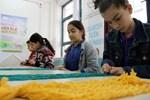 Okullarda file örme eğitimi verilmeye başlandı