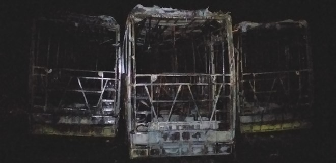 Tekirdağ'da 3 otobüs kül oldu