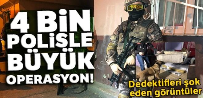 Bursa'da 4 bin polisle şafak operasyonu!