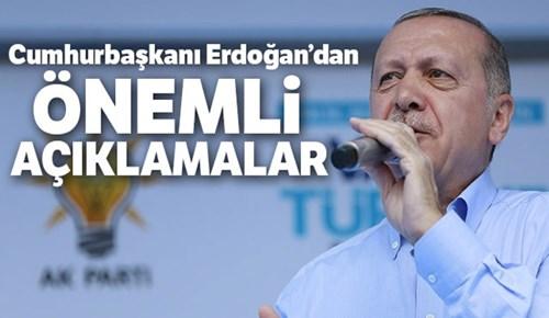 Cumhurbaşkanı Erdoğan'dan Denizli'de önemli açıklamalar