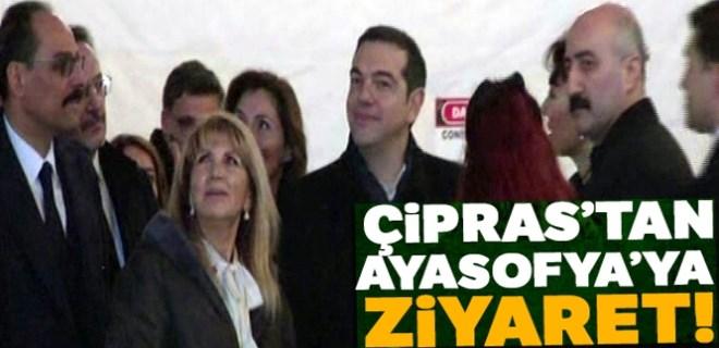 Yunanistan Başbakanı Çipras'tan Ayasofya'ya ziyaret