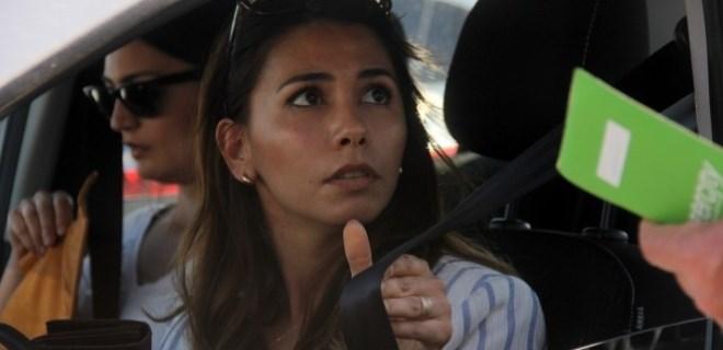 Helikopterli denetimde yakalanan kadın sürücü şok oldu