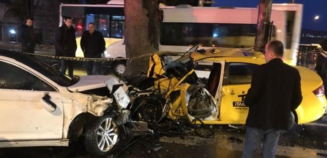 Beşiktaş'ta feci kaza! 1 ölü, 2 yaralı