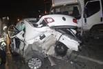 Basın ekspres yolunda feci kaza