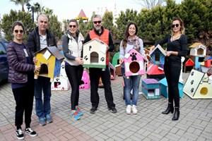 Sokak hayvanlarına rengarenk sevgi barınakları