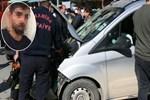 Kadın polisi darp etti, kaçarken kaza yaptı!