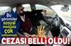 Erzurum'da otomobille seyir halindeyken ayağıyla direksiyonu çevirip yanında kocaman meyve tabağı...