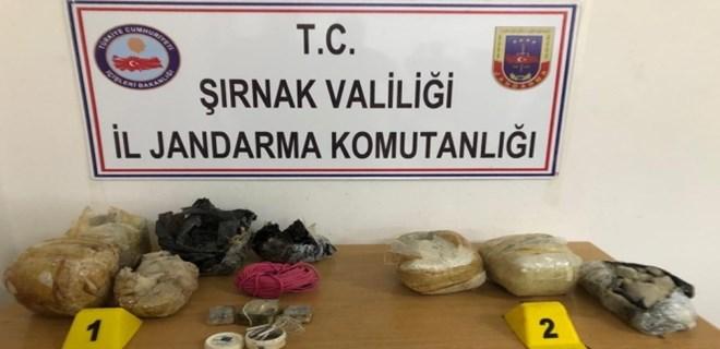 PKK'lı teröristlerin yola tuzakladığı 30 kiloluk EYP bulundu