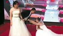 Eski sevgilisi gelinlikle düğünü bastı