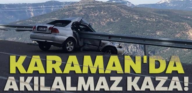 Karaman'da akılalmaz kaza!..