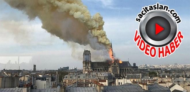 Notre Dame Katedrali'nde yangın!