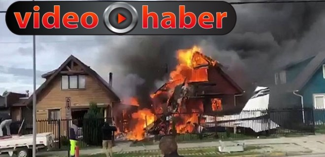 Şili'de evin üzerine uçak düştü: 6 ölü!