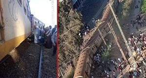 Mısır'da tren raydan çıktı