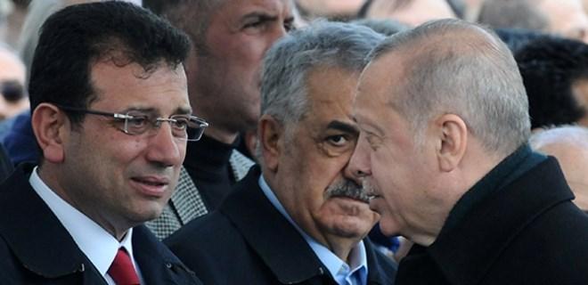 Cumhurbaşkanı Erdoğan ve Ekrem İmamoğlu cenaze töreninde
