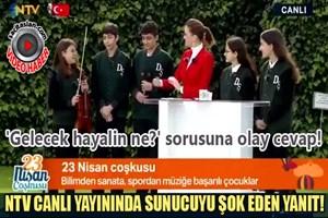 NTV canlı yayınında 'Gelecek hayalin ne?' sorusuna olay cevap!