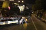 Alanyasporlu futbolcuları taşıyan özel araç devrildi