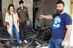 Uyurken evleri yanan aile ölümden döndü!