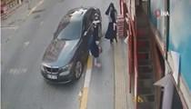 Vicdansız sürücü lüks aracıyla çarpıp kaçtı!