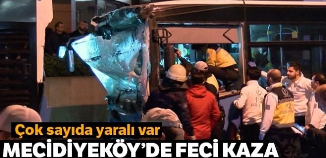 Şişli'de Özel Halk Otobüsü kazası!