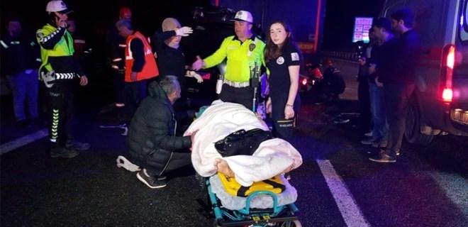 TEM'de feci kaza: 5 ölü