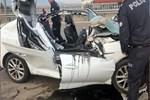 Direksiyonda uyuyan sürücü dehşet saçtı!