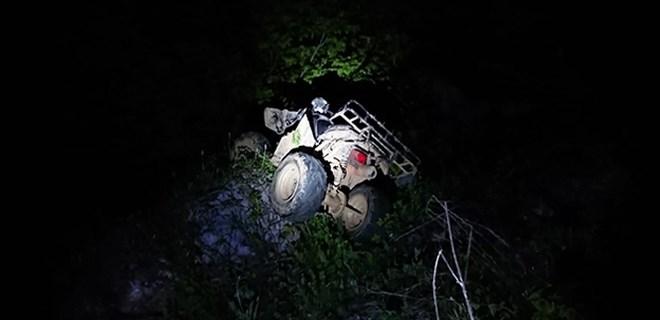 ATV ile 30 metrelik uçuruma yuvarlandılar