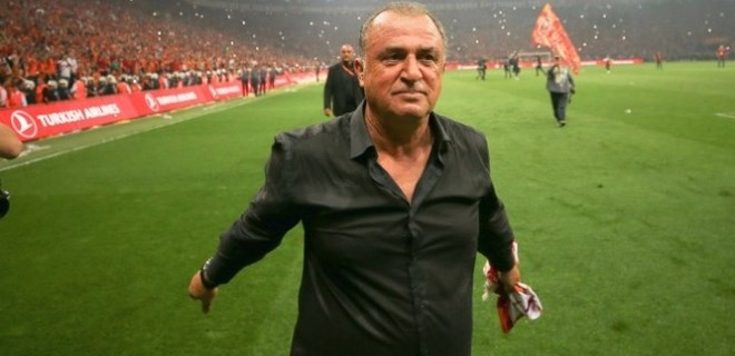 Fatih Terim'in şampiyonluk sevinci