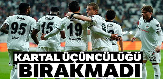 Beşiktaş üçüncülüğü bırakmadı