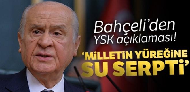 Devlet Bahçeli'den YSK açıklaması!