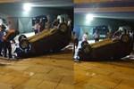 Ankara'da otomobil köprüden düştü